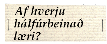 hálfúrbeinaðf
